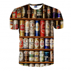 Beers of the world sublimated 3D T-Shirt