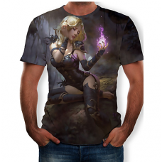 Black Witch sublimated 3D T-Shirt