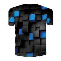Color Block sublimated 3D T-Shirt (BLUE)