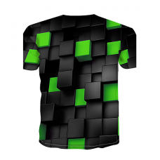 Color Block sublimated 3D T-Shirt (GREEN)