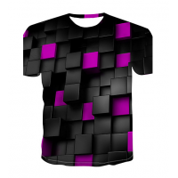 Color Block sublimated 3D T-Shirt (PURPLE)