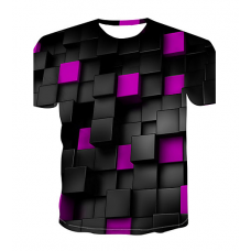 Color Block sublimated 3D T-Shirt (PURPLE)