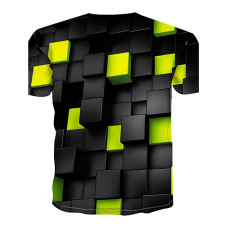 Color Block sublimated 3D T-Shirt (YELLOW)