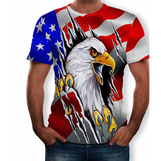 Golden Eagle Ripped sublimated 3D T-Shirt