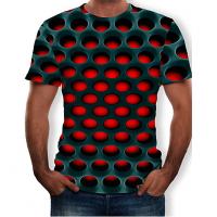Geometric Color Block  sublimated 3D T-Shirt