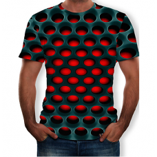 Geometric Color Block  sublimated 3D T-Shirt