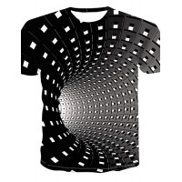 Punk and Gothic Geometric sublimated 3D T-Shirt