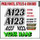 Autograss Graphics and Number Sets