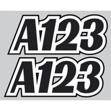 Autograss Door Numbers ONLY (various sizes available)