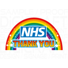 THANK YOU NHS RAINBOW STICKERS