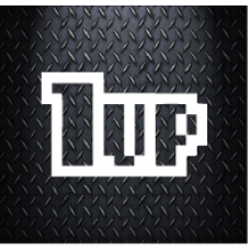1 UP 160 mm X 100 mm Vinyl Decal Sticker