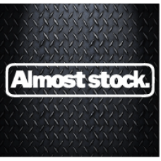 Almost Stock 200 mm X 45 mm Vinyl Decal Sticker