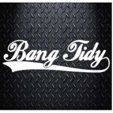 Bang Tidy 200mm X 60mm Vinyl Decal Sticker