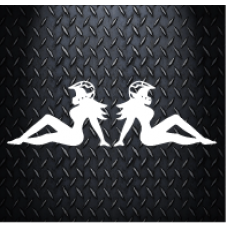 Biker Chicks Kappa 200mm x 65mm Vinyl Decal Sticker