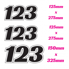 MOTOCROSS / DIRT BIKE RACE NUMBER SET ONLY