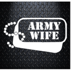 Army wife 180 X 100 Vinyl Decal Sticker