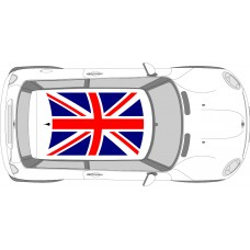 Universal Union Jack Roof decal to fit new mini
