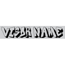 Autograss Visor Name ONLY 1 Colour