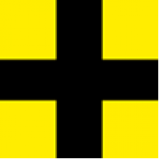 Autograss Junior Racer yellow / black cross