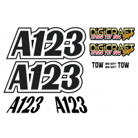 Autograss Door and Roof Fin ONLY Graphics Stickers set