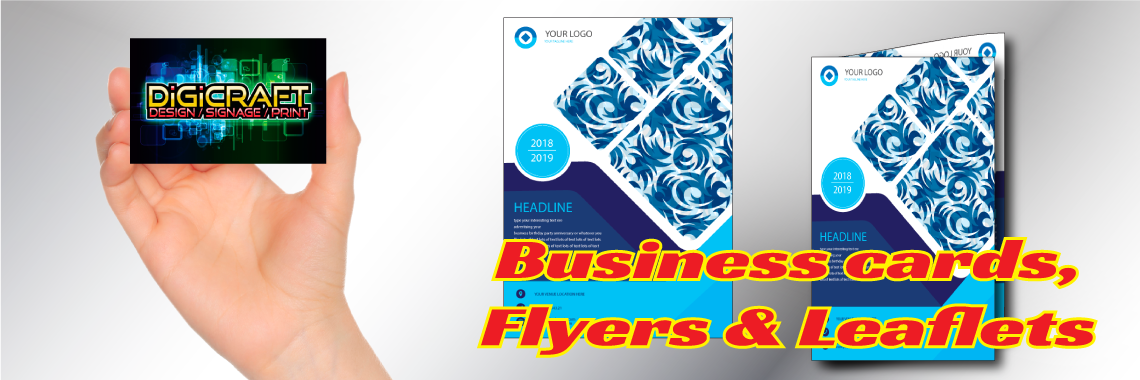 Business Cards Flyers and leaflets