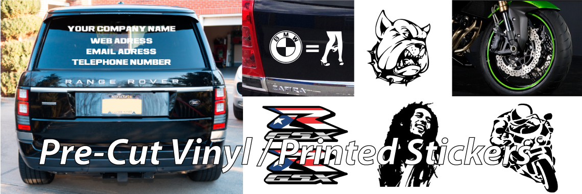 Pre Cut Vinyl Decals & Vehicle Graphics